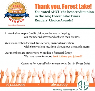 Thank You, Forest Lake!