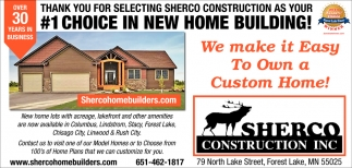Terrific Thank You For Selecting Sherco Construction As Your 1 Beutiful Home Inspiration Ommitmahrainfo
