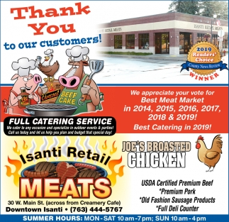 Thank You to Our Customers!