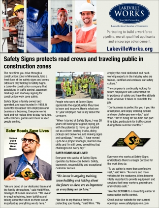 Safety Signs Protects Road Crews and Traveling Public in Construction Zones