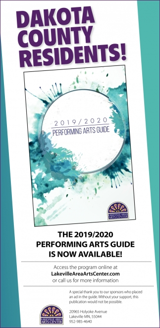 The 2019/2020 Performing Arts Guide is Now Available!