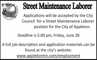 Street Maintenance Laborer