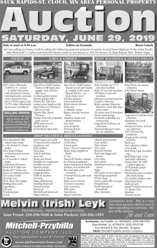 Sauk Rapids-St. Cloud, MN Area Personal Property Auction