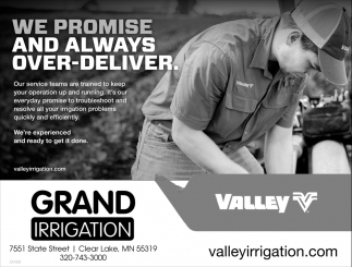 We Promise and Always Over-Deliver