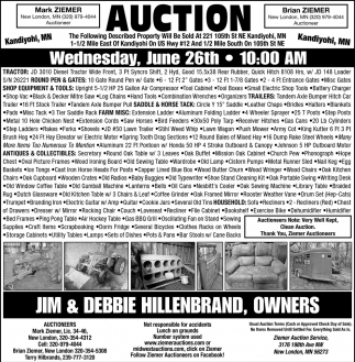 Auction Wednesday, June 26th