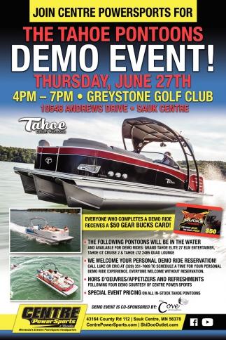 The Tahoe Pontoons Demo Event!