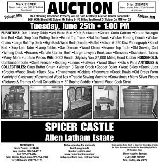 Auction Tuesday, June 25th