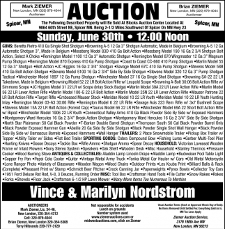 Auction Sunday, June 30th