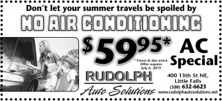 Don't Let Your Summer Travels Be Spoiled by No Air Conditioning