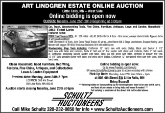 ART Lindgren Estate Online Auction