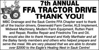 7th Annual FFA Tractor Drive Thank You!