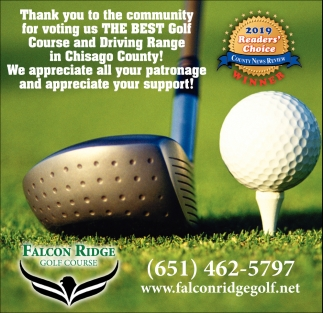 Thank You to the Community for Voting Us the Best Golf Course and Driving Range in Chisago County!