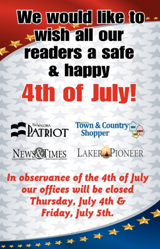 We Would Like to Wish All our Readers a Safe & Happy 4th of July!