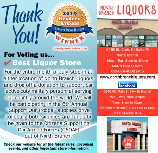 Thank You for Voting Us... Best Liquor Store