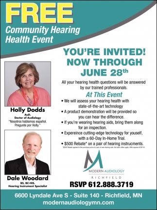 FREE Community Hearing Health Event