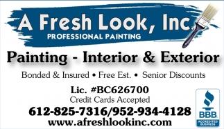Painting - Interior & Exterior