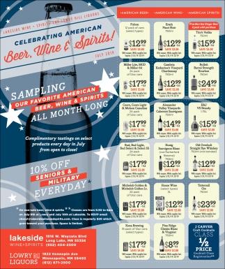 Celebrating American Beer, Wine & Spirits!