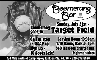 Boomerang Goes to Target Field