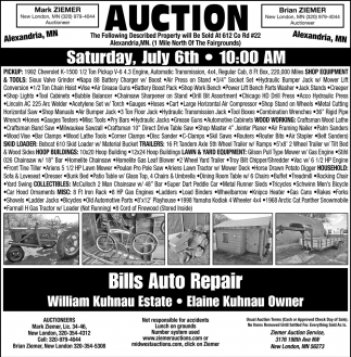 Auction Saturday, July 6th