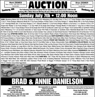Auction sunday July 7th