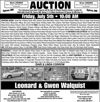 Auction Friday, July 5th