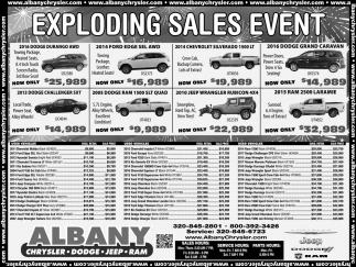 Exploding Sales Event