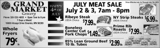 July Meat Sale