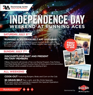 Independence Day Weekend at Running Aces