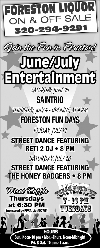Join the Fun in Foreston!
