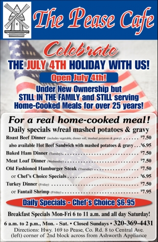 Celebrate the July 4th Holiday with Us!