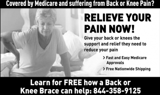 Relieve Your Pain Now!