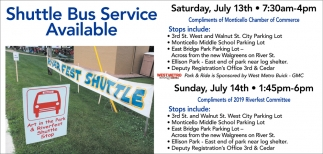 Shuttle Bus Service Available
