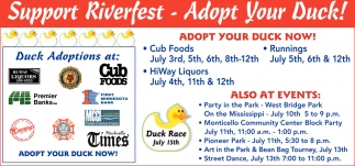 Support Riverfest - Adopt Your Duck!