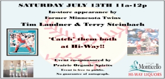 In-Store Appearance by Former Minnesota Twins Tim Laudner & Terry Steinbach