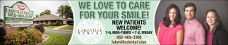 We Love to Care for Your Smile!