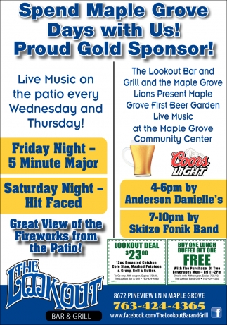 Spend Maple Grove Days with Us!