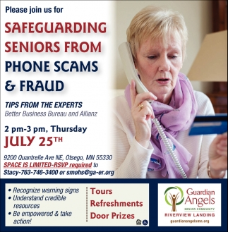Please Join Us for Safeguarding Seniors from Phone Scams & Fraud