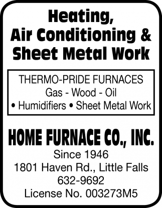Heating, Air Conditioning & Sheet Metal Work