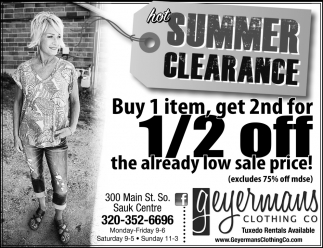 Hot Summer Clearance