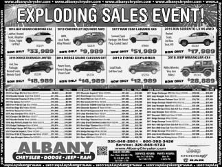 Exploding Sales Event!