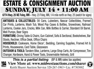 Estate & Consignment Auction