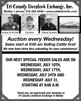 Auction Every Wednesday!