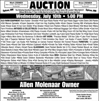 Auction Wednesday, July 10th