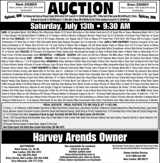 Auction Saturday, July 13th