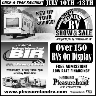 Once-A-Year Savings!, Pleasureland RV Surplus Store