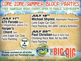 Come Zone Summer Block Parties