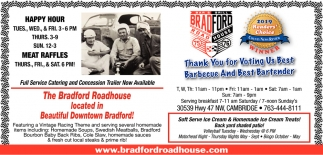 Thank You for Voting Us Best Barbecue and Best Bartender