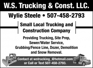 Small Local Trucking and Construction Company