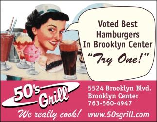 Voted Best Hamburgers in Brooklyn Center