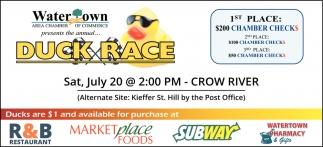 Watertown Duck Race 2019
